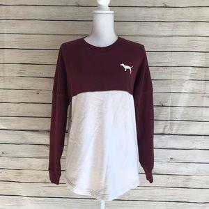 VS #PinkNation Oversized College Sweatshirt